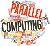 Word cloud for Parallel Computing. Abstract word cloud for Parallel Computing with related tags and terms stock illustration