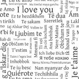 Word cloud pattern. Phrase I love you in different languages. Royalty Free Stock Photos