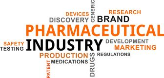 Word cloud - pharmaceutical industry Stock Photography