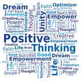 Word Cloud - Positive Thinking vector illustration