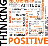 Word cloud - positive thinking royalty free illustration