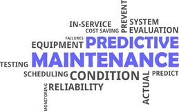Word cloud - predictive maintenance Stock Photography