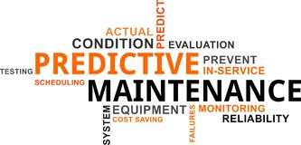Word cloud - predictive maintenance. A word cloud of predictive maintenance related items Royalty Free Stock Photography