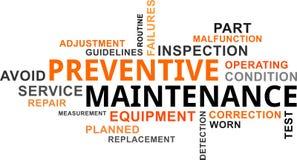 Word cloud - preventive maintenance Stock Photo