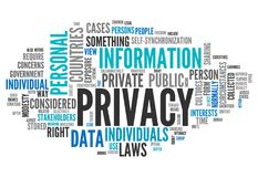 Word Cloud Privacy. Word Cloud with Privacy related tags Royalty Free Stock Photo