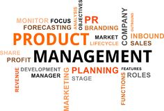 Word cloud - product management Stock Image