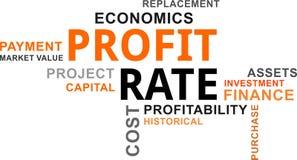 Word cloud - profit rate Royalty Free Stock Photos