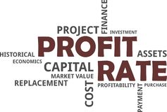 Word cloud - profit rate Stock Photography