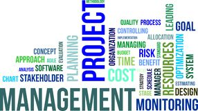 Word cloud - project management Royalty Free Stock Images