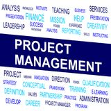 Word cloud of Project Management related items. Vector graphic illustration for Business concept Stock Photos