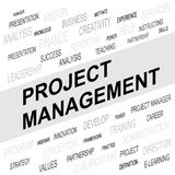 Word cloud of Project Management related items. Vector graphic illustration for Business concept Stock Photography