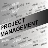 Word cloud of Project Management related items. Vector graphic illustration for  Business concept Stock Photo