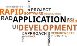 Word cloud - rapid application development Stock Photography
