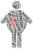 Word cloud related to obesity. Stock Photography