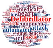 Word cloud relating to Defibrillator. Royalty Free Stock Photo