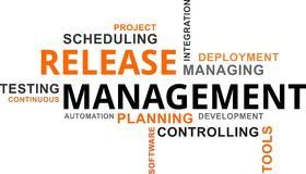 Word cloud - release management Royalty Free Stock Images