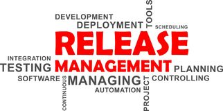 Word cloud - release management Stock Images