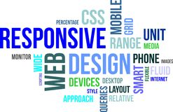 Word cloud - responsive web design Stock Images