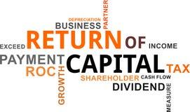 Word cloud - return of capital Stock Photography