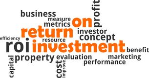 Word cloud - return on investment Stock Photo
