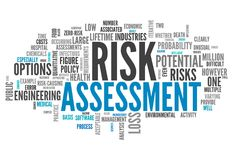 Word Cloud Risk Assessment. Word Cloud with Risk Assessment related tags stock illustration