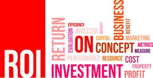 Word cloud - roi Stock Photography
