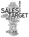 Word Cloud Sales Target. Word Cloud with Sales Target related tags Royalty Free Stock Photo