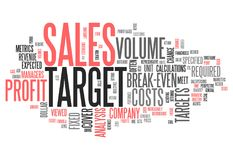 Word Cloud Sales Target. Word Cloud with Sales Target related tags Stock Image