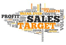Word Cloud Sales Target. Word Cloud with Sales Target related tags Stock Photos