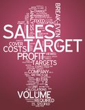 Word Cloud Sales Target. Word Cloud with Sales Target related tags Stock Photo