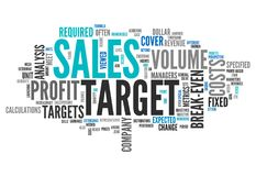 Word Cloud Sales Target. Word Cloud with Sales Target related tags Stock Photography