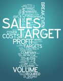 Word Cloud Sales Target. Word Cloud with Sales Target related tags Royalty Free Stock Image
