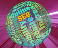 Word Cloud of SEO Tag Royalty Free Stock Photos