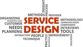 Word cloud - service design Royalty Free Stock Photos