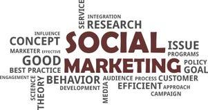 Word cloud - social marketing Royalty Free Stock Image