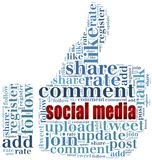 Word cloud social media related Royalty Free Stock Photo