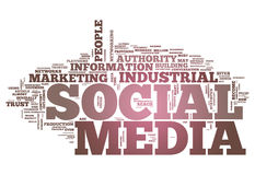 Word Cloud Social Media. Word Cloud with Social Media related tags Stock Images