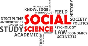 Word cloud - social science Stock Photography