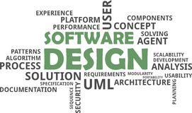 Word cloud - software design Royalty Free Stock Photo