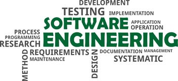 Word cloud - software engineering Royalty Free Stock Image