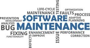 Word cloud - software maintenance vector illustration