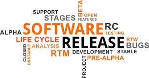 Word cloud - software release Royalty Free Stock Photos