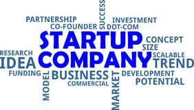 Word cloud - startup company Stock Image