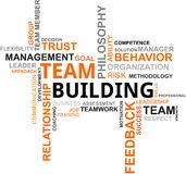 Word cloud - team building stock illustration