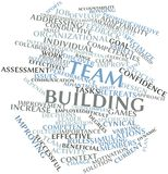 Word cloud for Team building. Abstract word cloud for Team building with related tags and terms Royalty Free Stock Photo