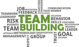 Word cloud - team building. A word cloud of team building related items royalty free illustration