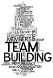 Word Cloud Team Building. Word Cloud with Team Building related tags Stock Photos