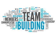 Word Cloud Team Building. Word Cloud with Team Building related tags stock illustration