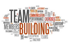 Word Cloud Team Building. Word Cloud with Team Building related tags Royalty Free Stock Image