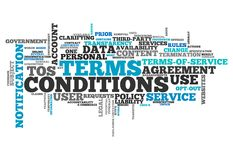 Word Cloud Terms and Conditions stock illustration